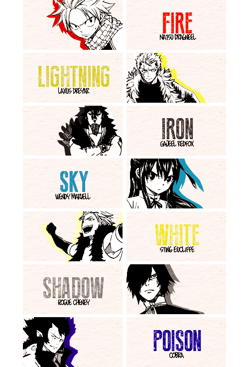 Natsu, Luxus, Gajeel, Wendy, Sting, Rogue, Cobra | FAIRY