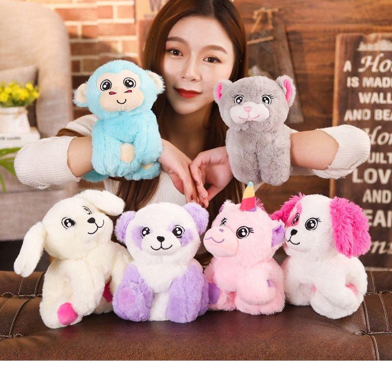 Best Stuffed Animals For Boy, Cute Animal Bracelet Plush Toy Unilovers Kids Holiday Gifts Unicorn Toys Cute Cartoon Animals