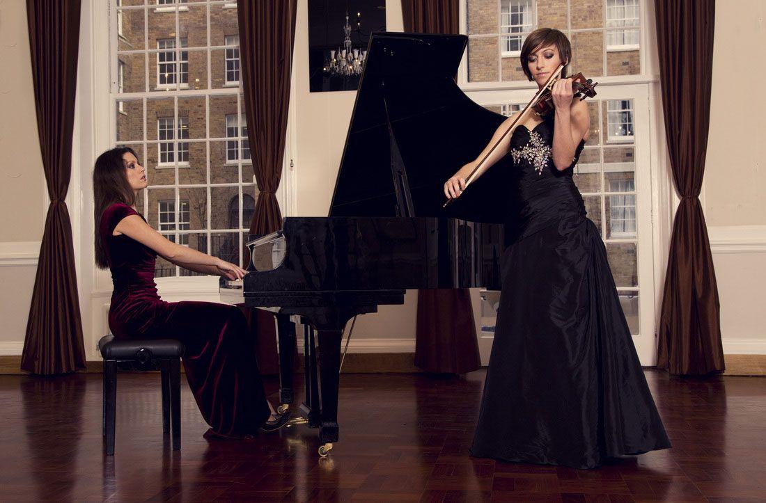 Hire Instrumental Duo Piano & Violin Duo Scarlett