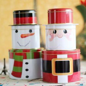 2014 Zakka fashion snow men & Santa Claus storage box tea box 1 item price gift