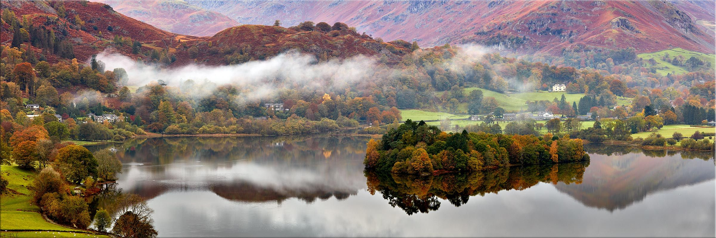 Grasmere Autumn Mists Canvas Print Landscape Photography Canvas Prints Landscape