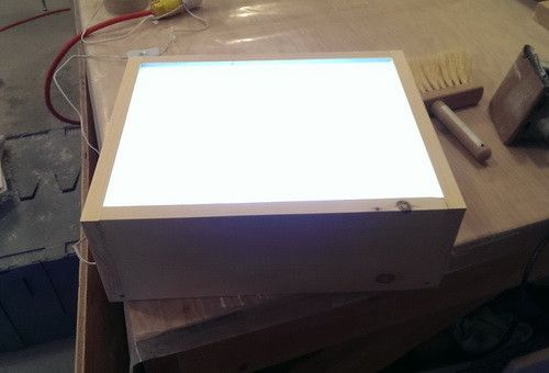 How To Build An Led Light Table With Wood Amp Led Strips