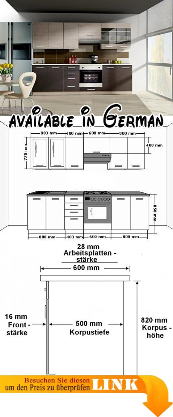 B008VO6P8I  Küche Wiktoria 260cm Küchenzeile / Küchenblock variabel