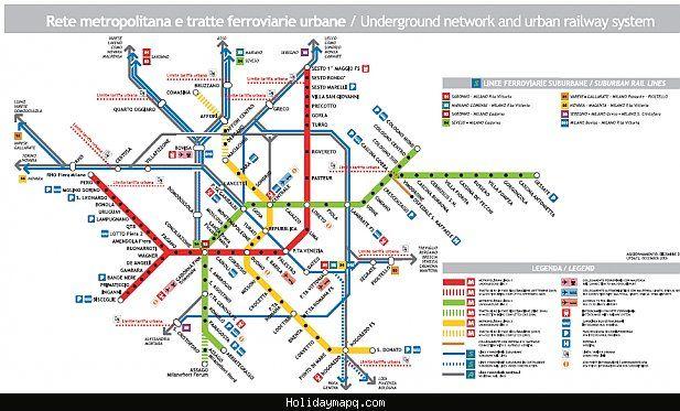 Milan Subway Map.Cool Milan Subway Map Holidaymapq Subway Map Map Milan