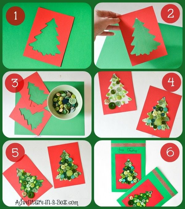 Awesome Christmas Card Craft Ideas For Kids Part - 6: 9 DIY Homemade Christmas Cards Ideas For Kids To Make