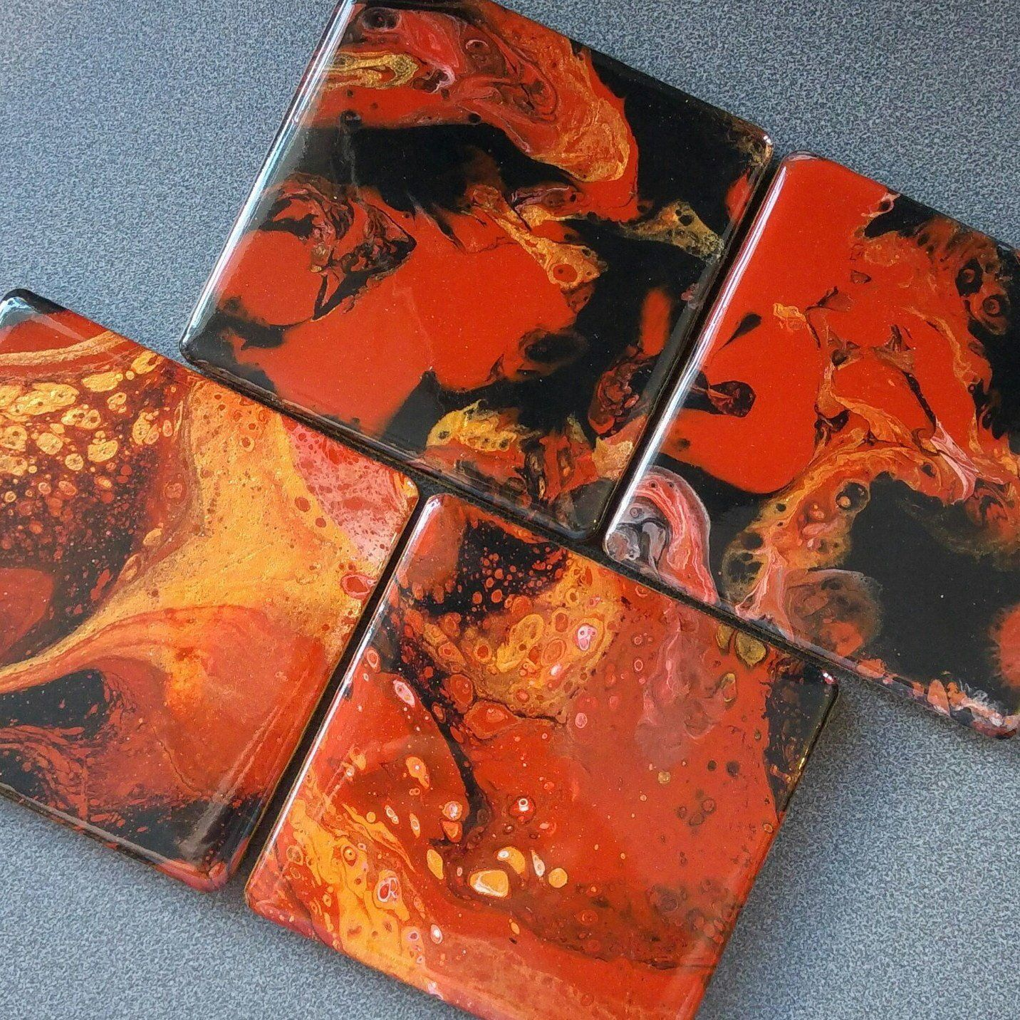 Pin by pauline irving on exceptional acrylic pour coasters in