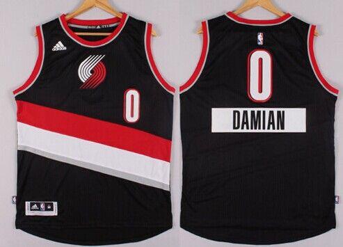 Portland Trail Blazers  0 Damian Lillard Revolution 30 Swingman 2014  Christmas Day Black Jersey c07b0af9e