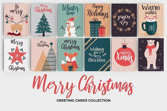 Hand drawn Christmas greeting cards by Creative Graphics # ...