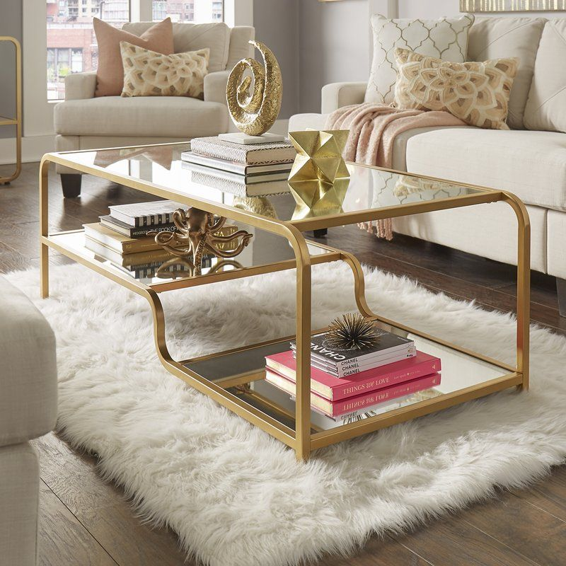 Dacia Mirror Coffee Table Champagne Living Room Coffee Table Living Room Coffee Table