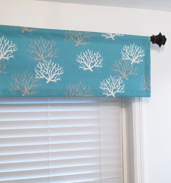 Window Valance Isadella Coastal Blue Nautical By Oldstation