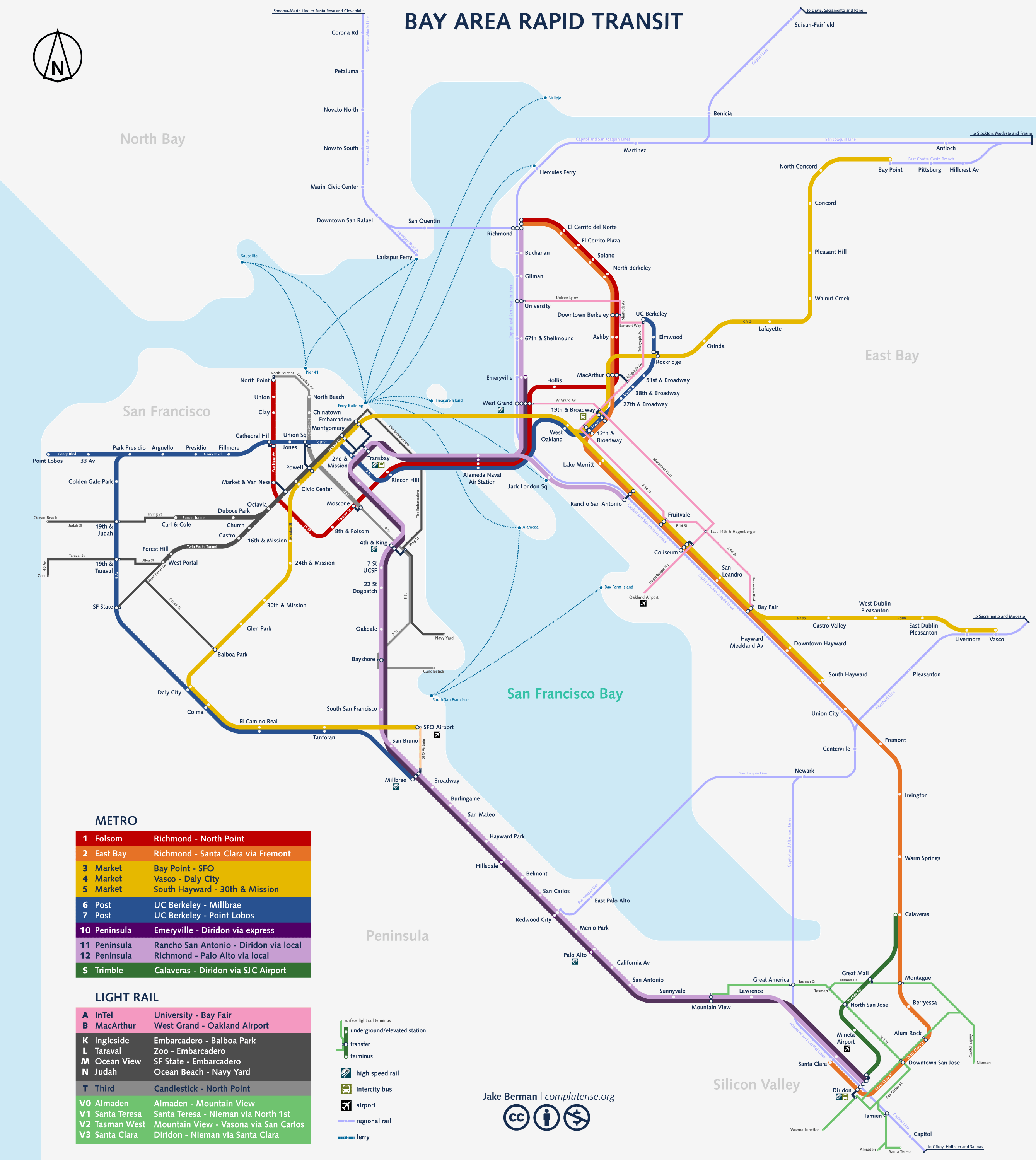 California Subway Map.Take The Subway In San Franscisco Completed In January 2008 San