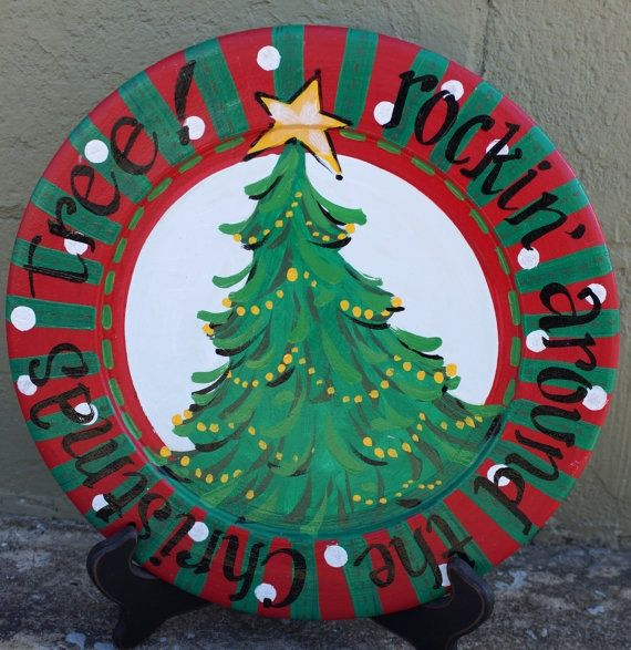 rockin around the christmas tree float ideas | Rockin' Around the Christmas Tree Plate by kijsa ...