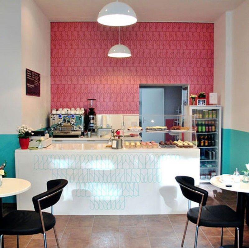 Retro Look Coffee Shop Designs With Modern Layouts Diseno De Interiores Cafeteria Decoracion De Bistro Decorar Cafeteria