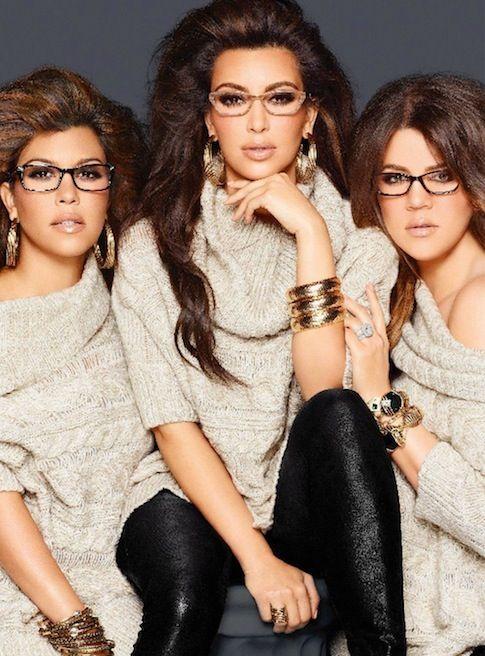 Kim, Kourtney and Khloe Kardashian in Kardashian Kollection Promo Images