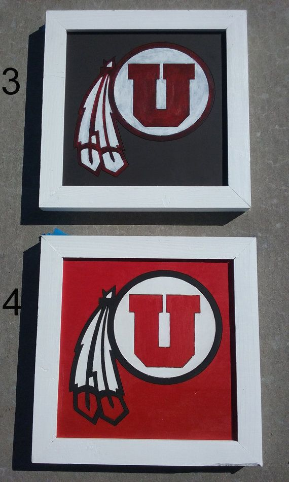University of Utah signs Utes Wall Decor by ThatWoodWorkByVon