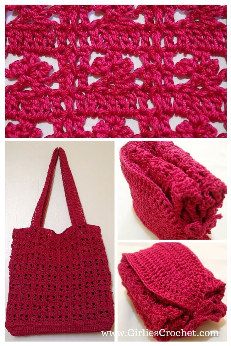 Red summer bag free crochet pattern thread easy foldable bag red summer bag free crochet pattern thread easy foldable bag beach bankloansurffo Image collections