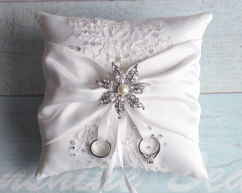 Wedding Ring Bearer Pillow Detail Lace Ring Pillow Ring