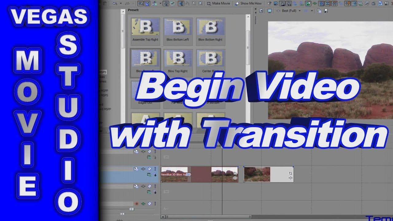 How to Begin a Video with a Transition using Sony Vegas