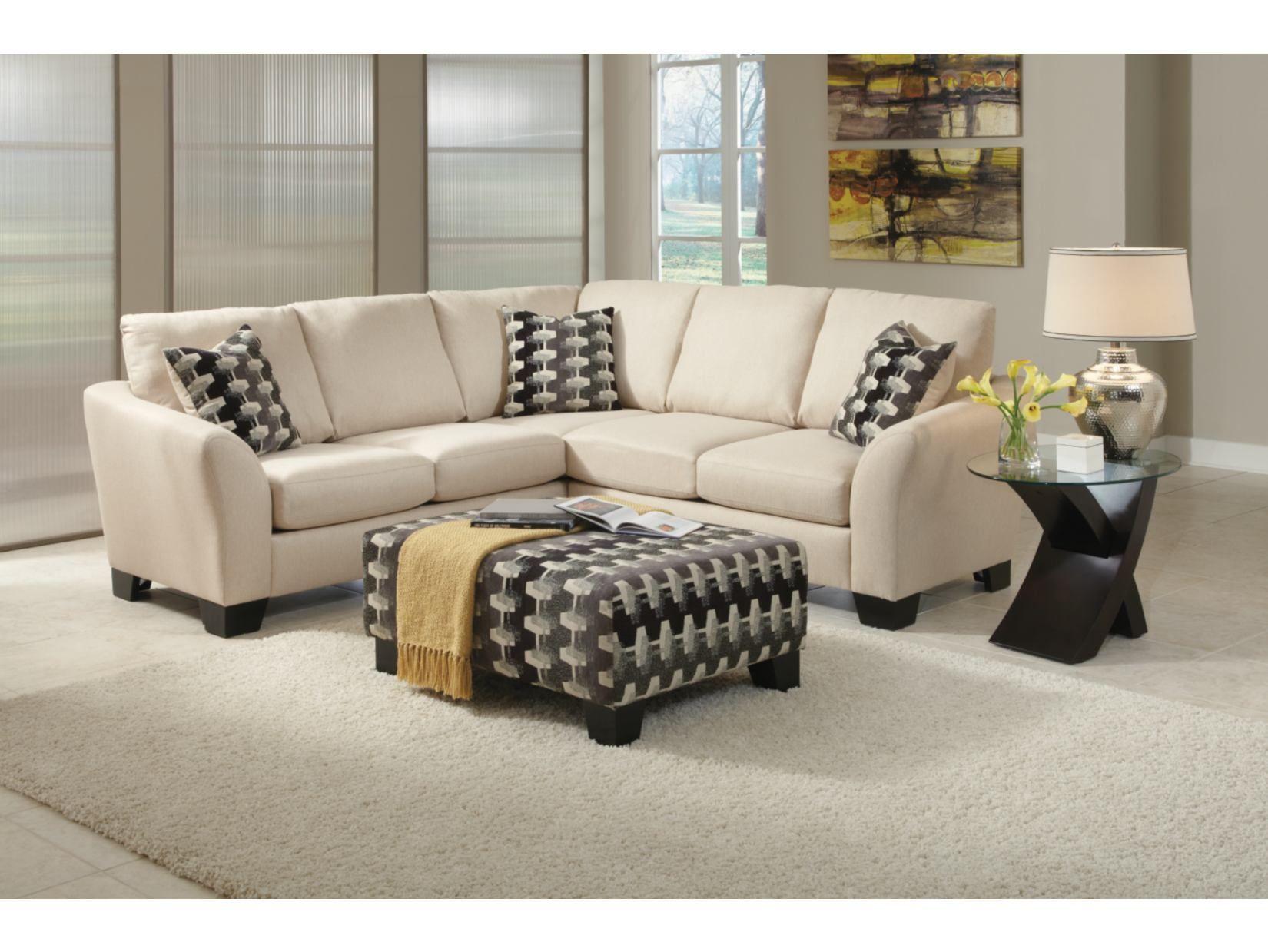 Enjoyable Spencer Cream 2 Pc Sectional Ottoman Package American Ncnpc Chair Design For Home Ncnpcorg