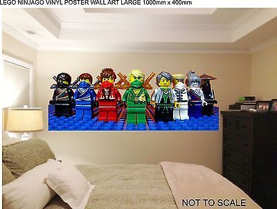 lego bedroom decor lego ninjago no hats 80cm wide wall sticker vinyl 12076