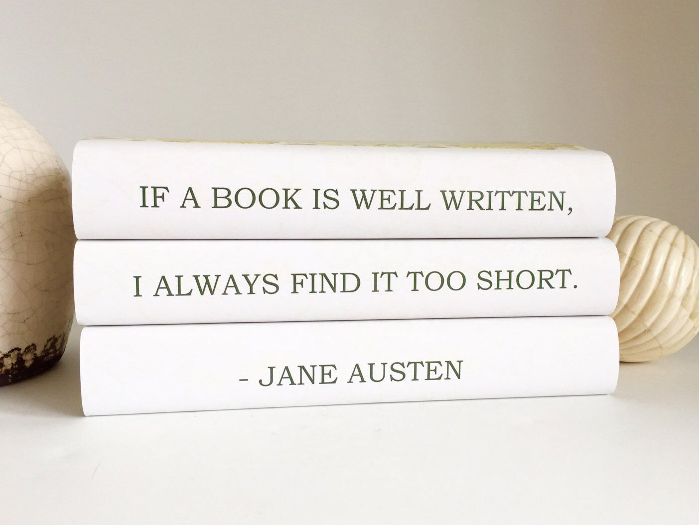 Jane Austen, Jane Austen Quote, Jane Austen Lover, Book Lover Gift, Decorative Quote Books, Gift for Book Lover, Custom Books, Floral Books by ArtfulLibrary on Etsy https://www.etsy.com/listing/262902779/jane-austen-jane-austen-quote-jane