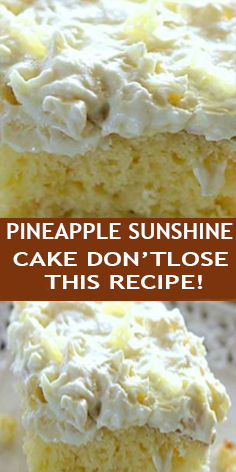 YOU'LL NEED: CAKE:  »1 Box yellow cake mix.  »4 Eggs.  »1/2 Cup oil (I used vegetable oil).  »1 (8 Ounces) can crushed pineapple with juice.