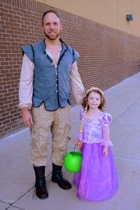 father daughter flynn rider and rapunzel costume