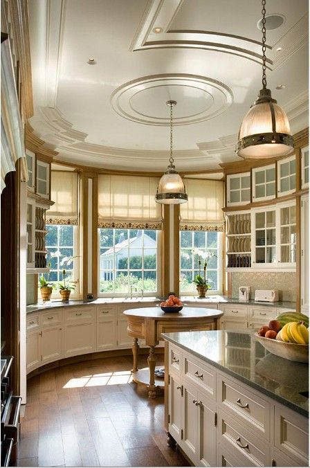 Curved Kitchen Cabinets And Counters To Fit The Turret! Design Chic: In  Good Taste: Cullman And Kravis Design