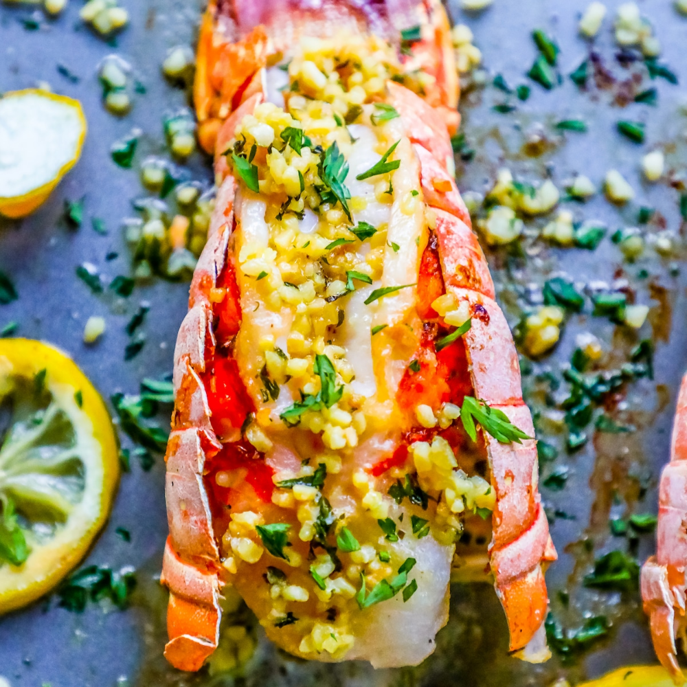 Easy 10 Minute Garlic Butter Broiled Lobster Tails Recipe #lobstertail Easy 10 Minute Garlic Butter Broiled Lobster Tails Recipe #lobstertail