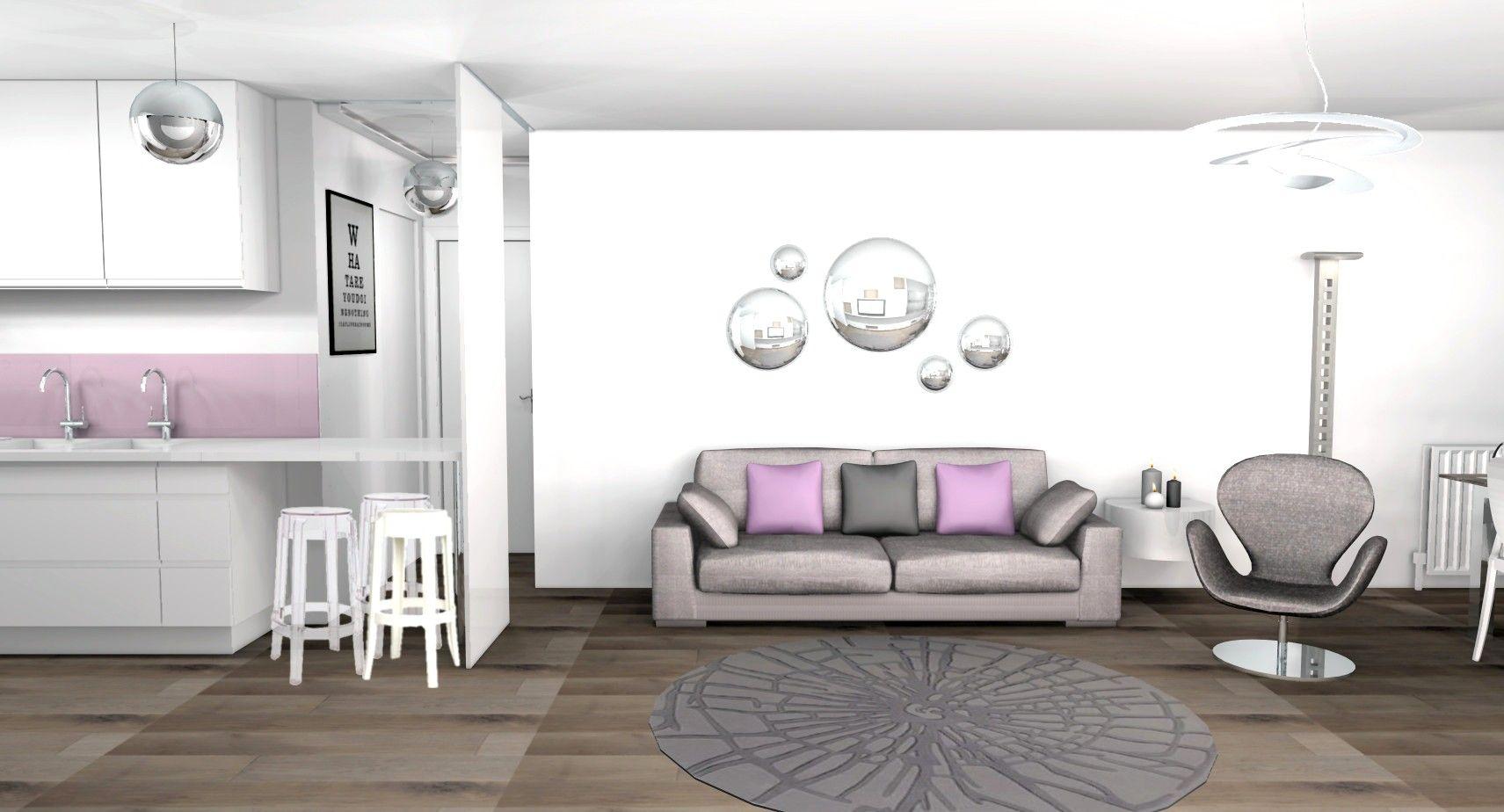 Décoration Mauve Et Gris salon moderne gris et mauve | salon moderne gris, salon