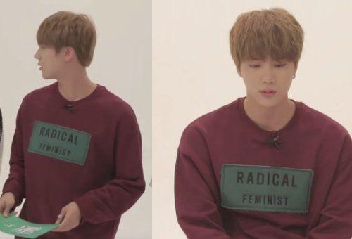 Jin Radical Feminist Long Sleeve Tshirt Men Radical Feminist Feminist
