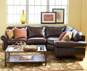 Thomasville Benjamin Sectional Sofa Looks Nice And Even Has A Recliner Built In At Both Ends Brown Living Room Decor Brown Living Room Thomasville Furniture