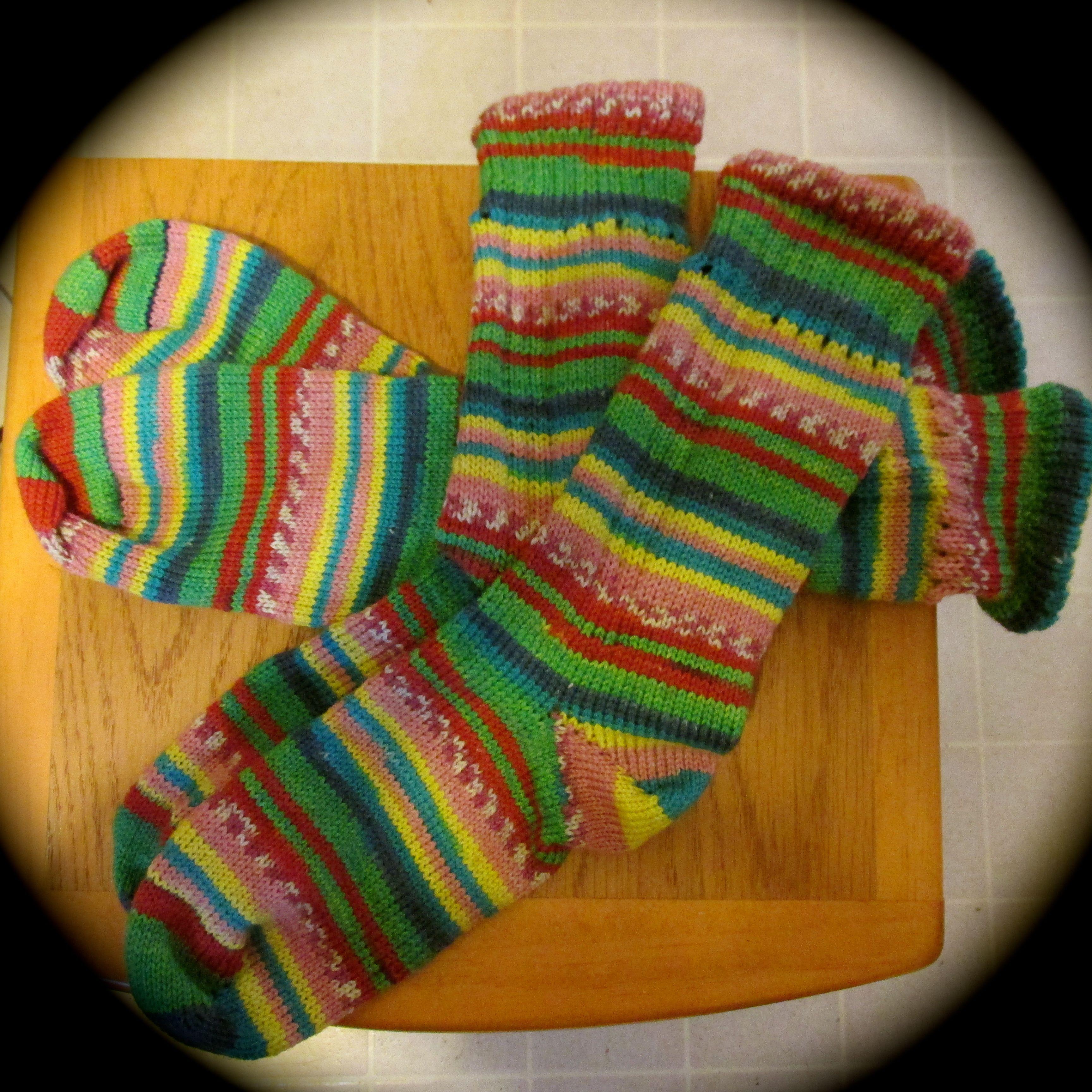 …easter socks ...   Machine knitting, Knitting socks