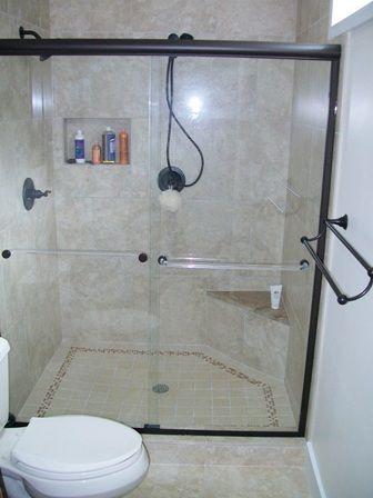 Regular Tub/shower Surround Converted To 4u0027x5u0027 Shower. Breathtaking!  Functional Too!