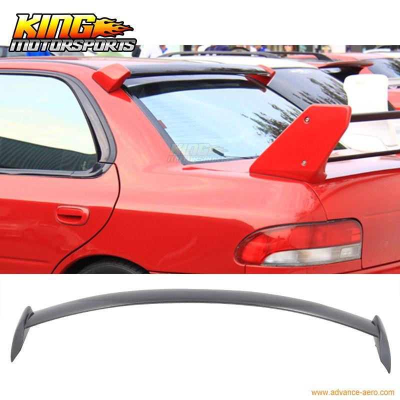 For 2002 2003 2004 2005 2006 2007 Subaru Impreza Wrx Sti Roof Spoiler Wing Carbon Fiber Cf Subaru Impreza Wrx Impreza