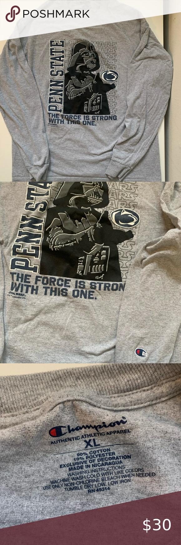 Star Wars Champion Penn State Men S Xl Long Sleeve Champion Shirts T Shirts For Women Long Sleeve [ 1740 x 580 Pixel ]