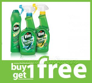 image about Household Coupons Printable referred to as Canada Discount coupons: BOGO Vim Loved ones Cleaner! Printable