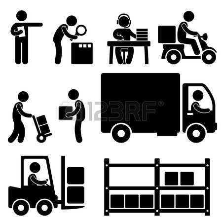 Pictogram Man Logistic Warehouse Delivery Shipping Icon Pictogram Illustration Pictogram People Icon Vector Art