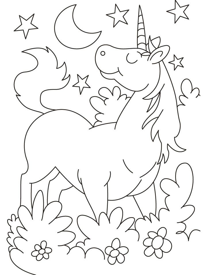 Unicorn Coloring Pages A4