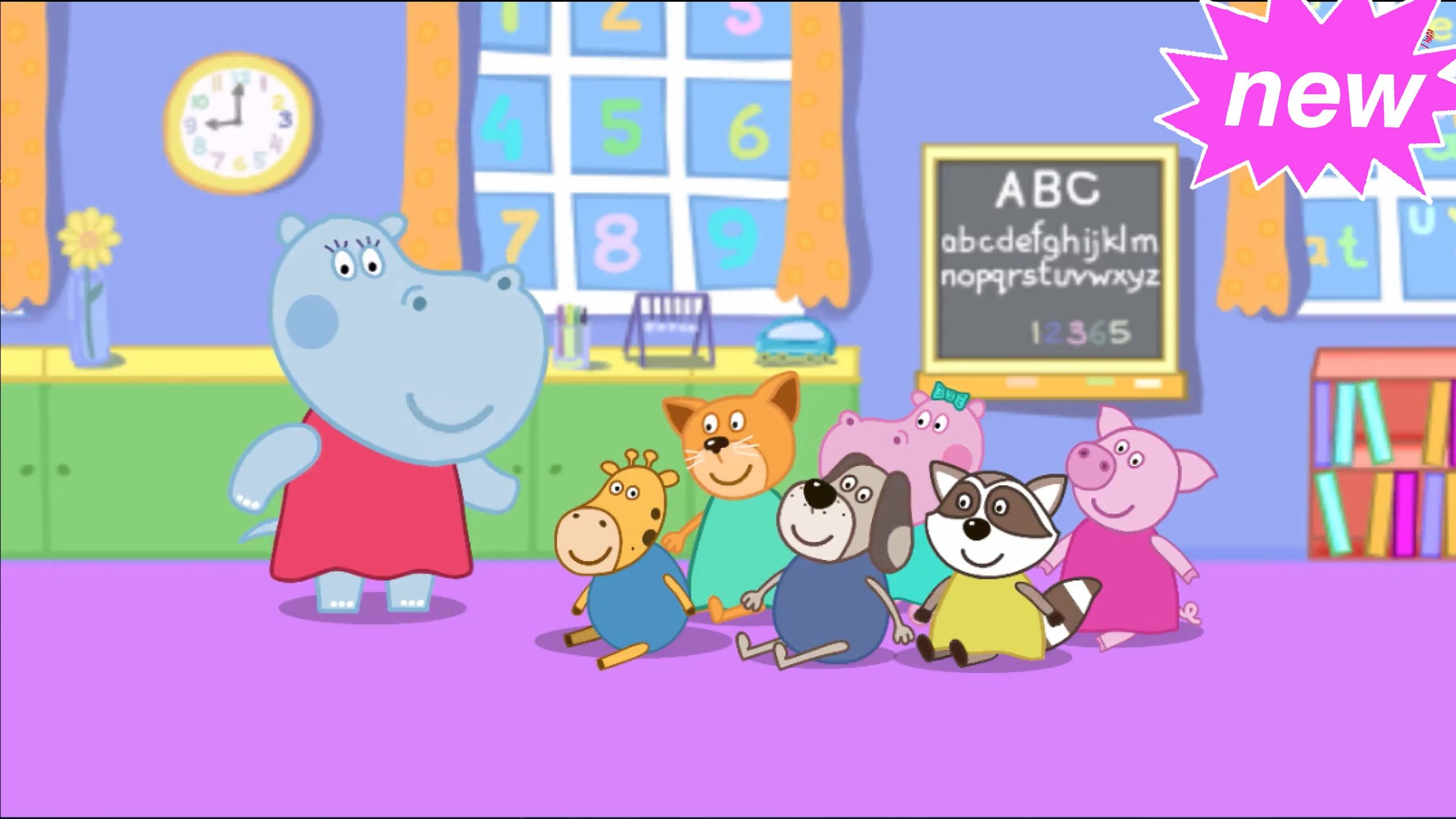 Hippo Peppa And Her Friends Are Playing Baby Shop Kids