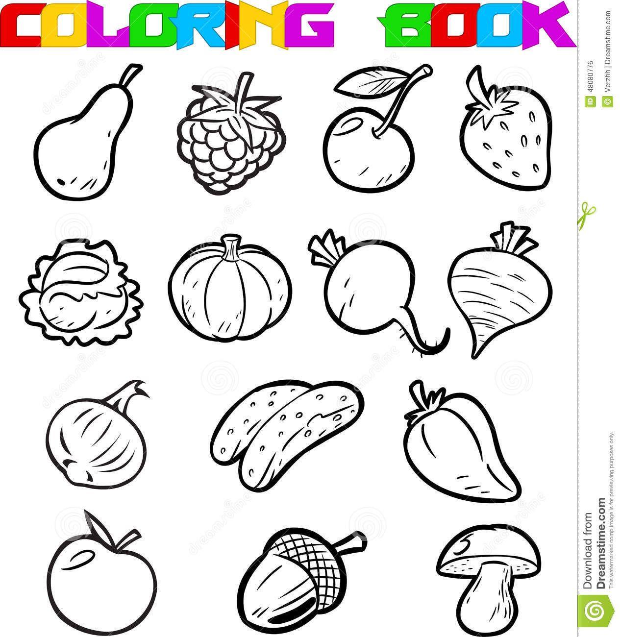 Resultado De Imagem Para Desenho De Verduras Para Colorir Com