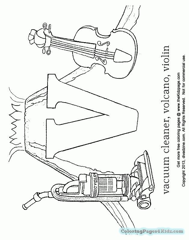 Letter V Coloring Pages At Getdrawings Free For