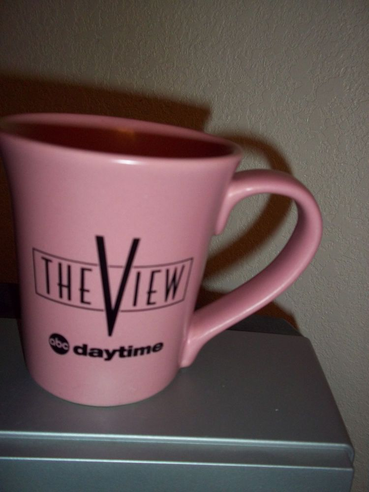 The View Coffee Cup Mug Pink Abc Daytime Tv American Cancer Society