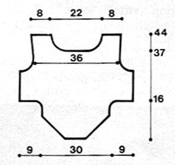 Dog Coat Crochet Pattern PDF Vintage (T188) INSTANT