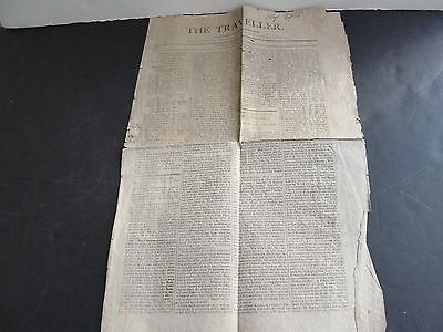 Antique-The-Traveller-Tuesday-April-9-1811-Greenfield-MA-Newspaper-RARE
