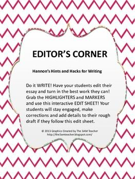 five steps to the perfect essay edit sheet  for educators  best