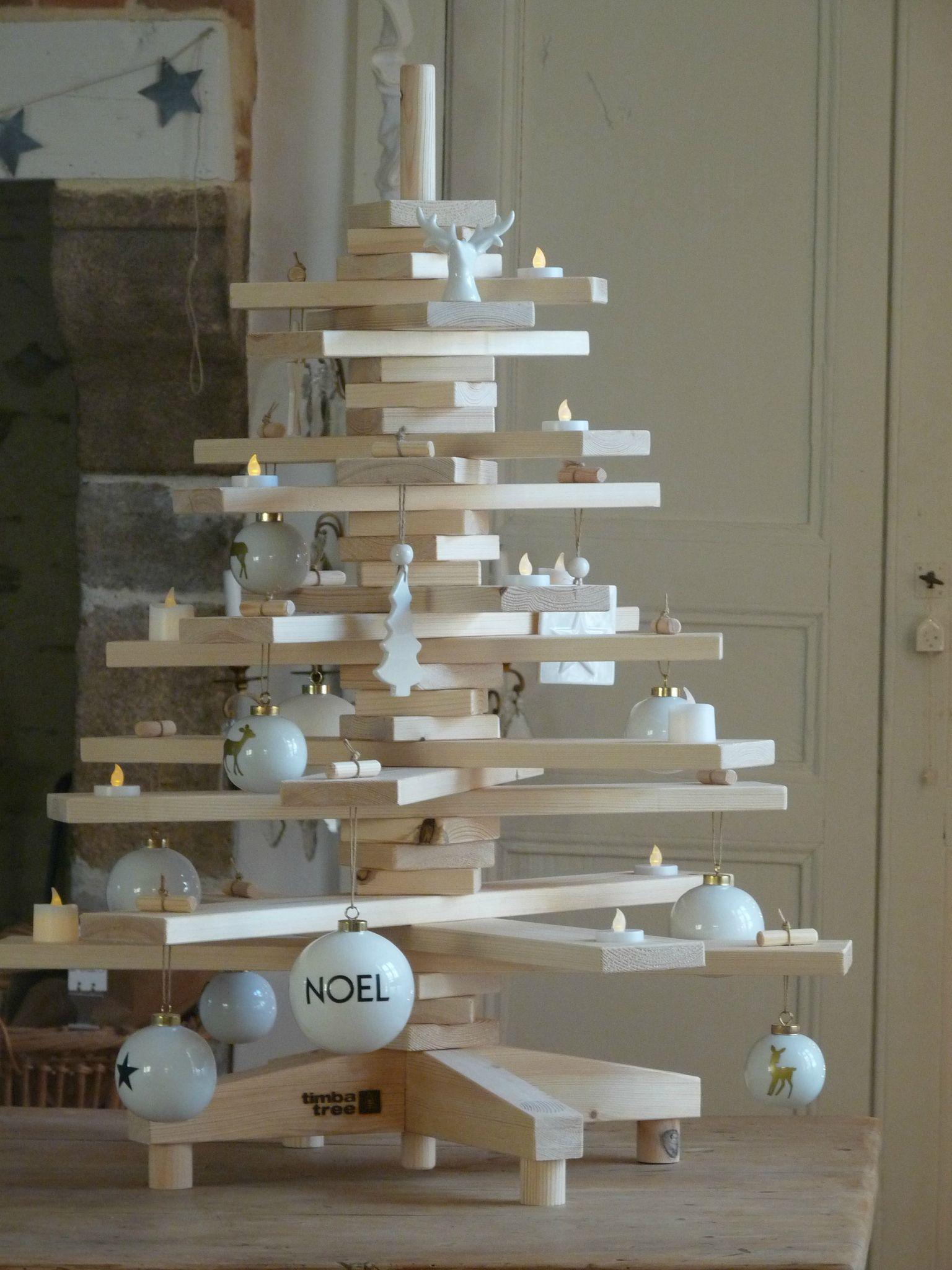 sapin en bois planches en 3d vu chez hiver et noel. Black Bedroom Furniture Sets. Home Design Ideas
