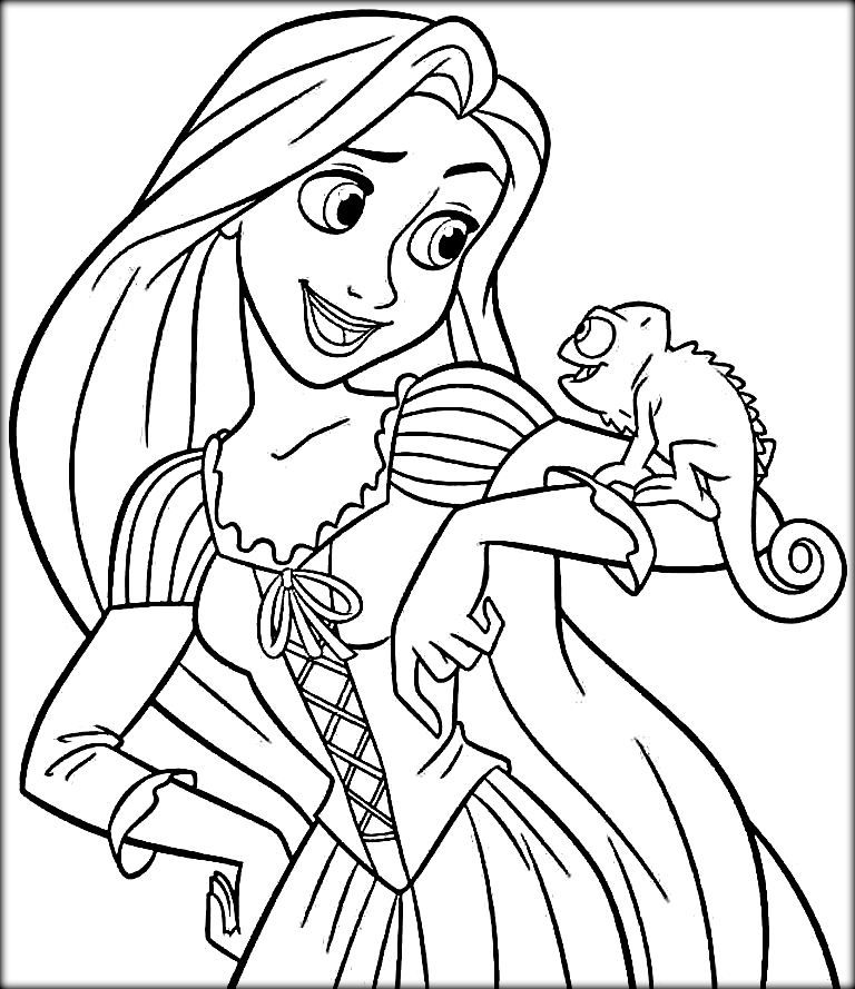 Check the collection of free Rapunzel coloring pages