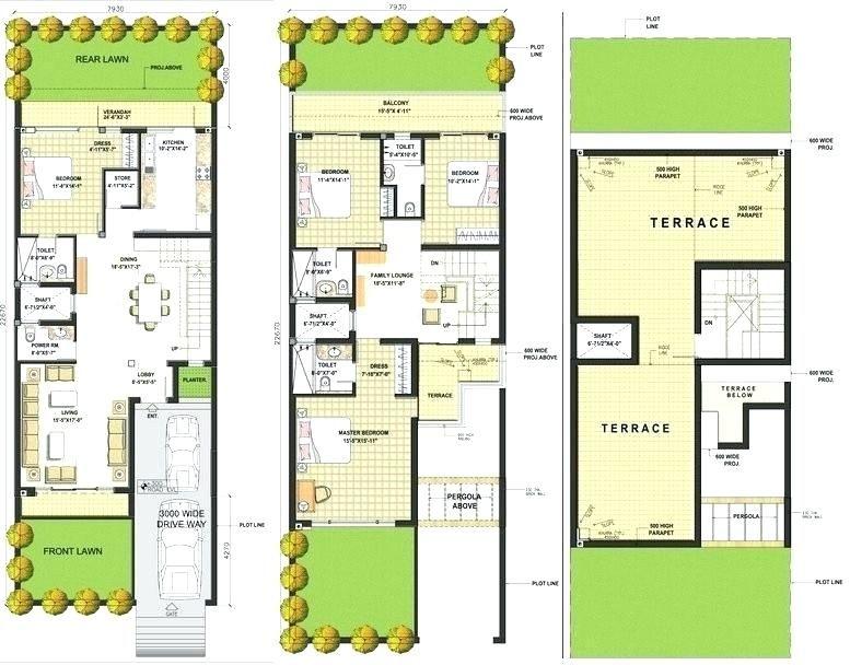 Row Houses Design Plans Row House Design Row House My House Plans
