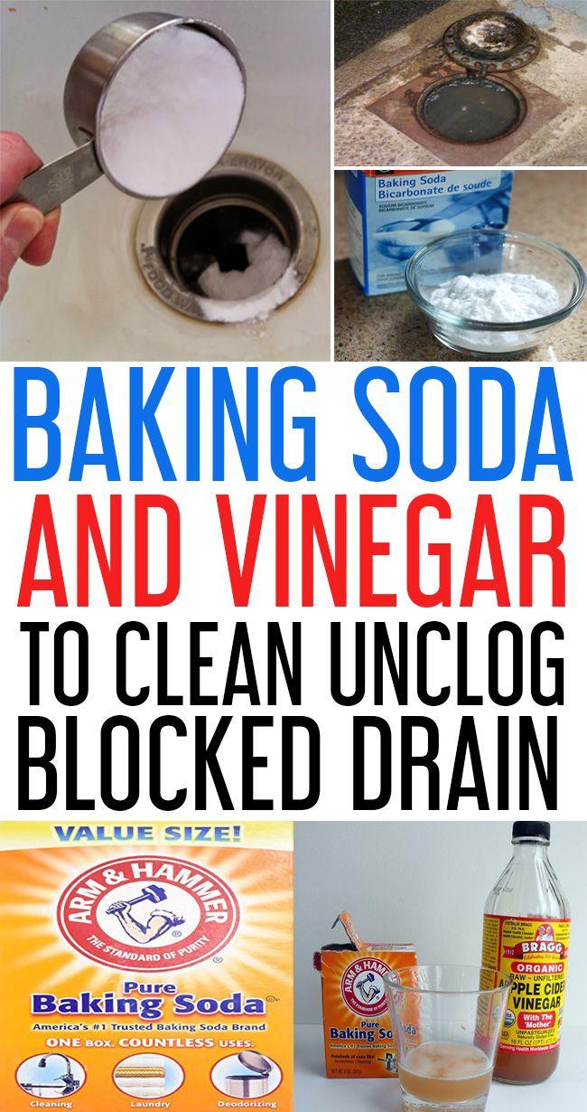 baking soda drain cleaner